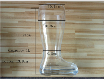Machine press custom logo boot shape glass mug shot glass