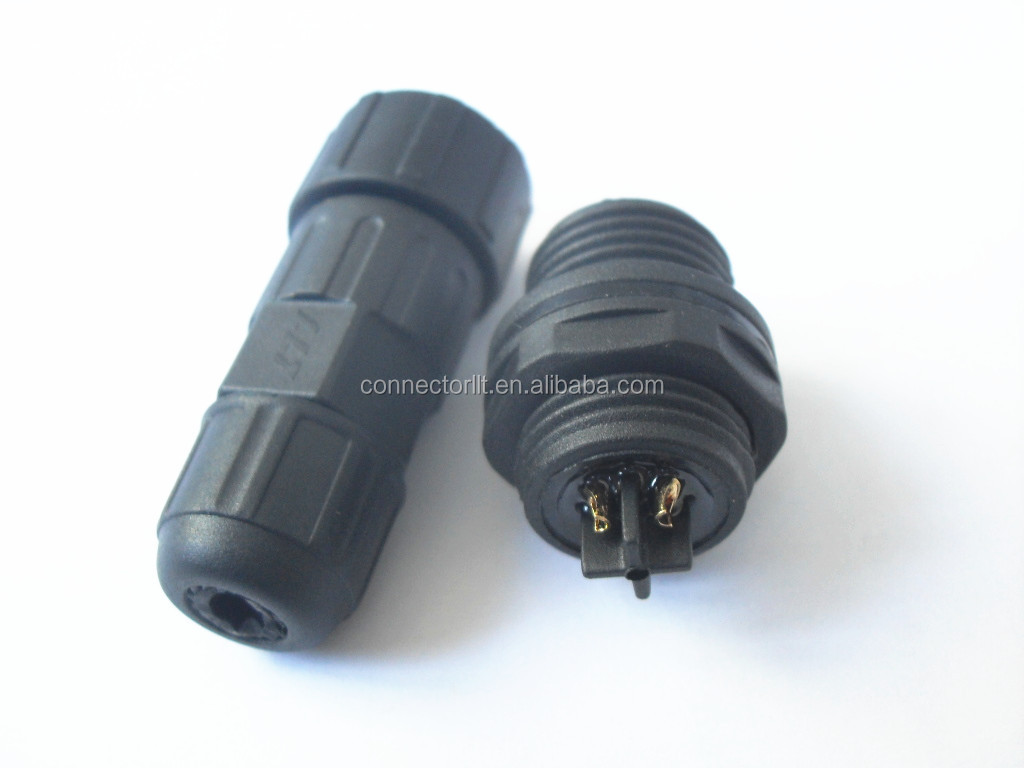 Pin bulkhead male panel front mounted connector plug and