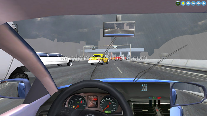 Dynamic car simulator for driving training school