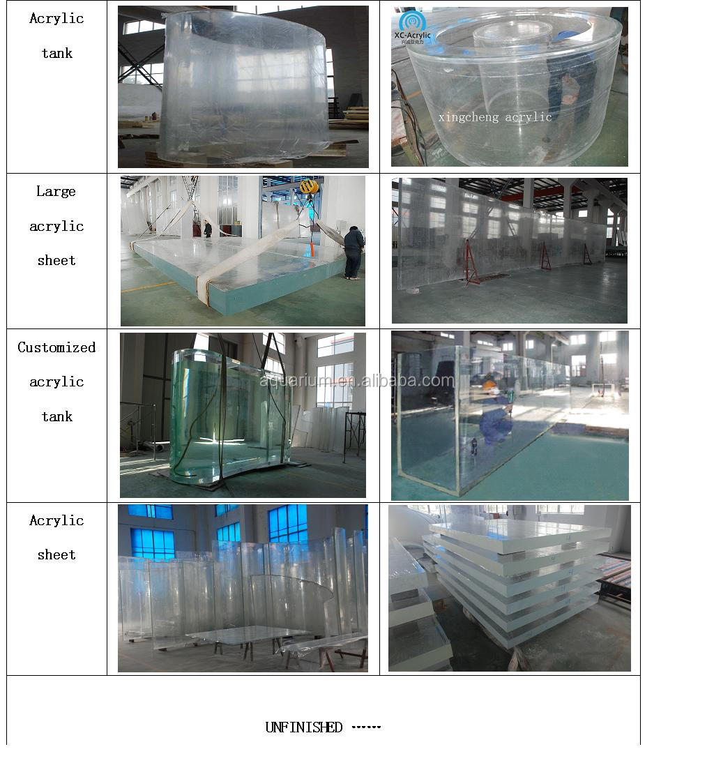 cylindrical acrylic fish tank for acrylic fish tank oceanarium in Russia