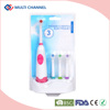 Hot selling battery operated toothbrush with 3 refills