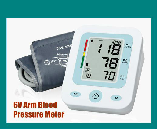 Retirement Home & Nursing Home Use Large LCD Display Screen IHB Detection Arm Blood Pressure Meter