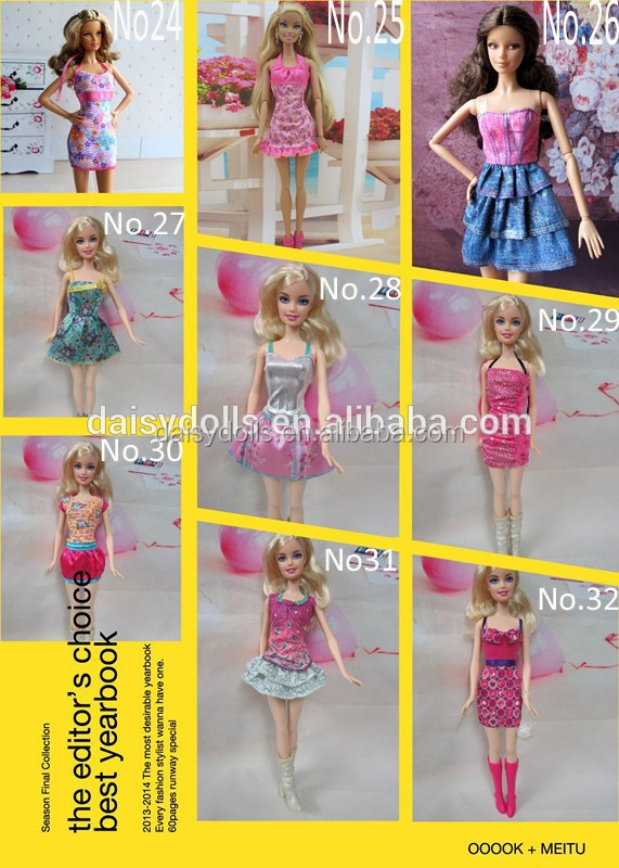 10-12inch Doll clothes Wholesale fit Barbiee Clothes Best Game for girl kids American Girl Doll Clothes