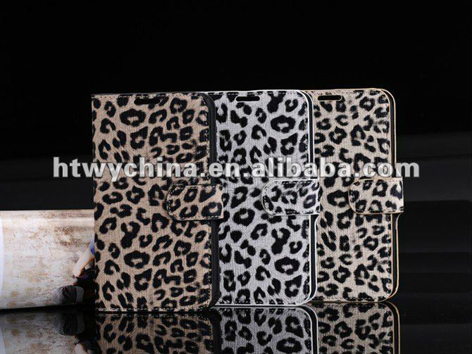 Classic Leopard Print Wallet Leather Case Cover for Galaxy Note 2 N7100