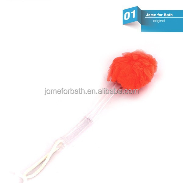 Colorful Mesh Bath Sponge Material With Handle