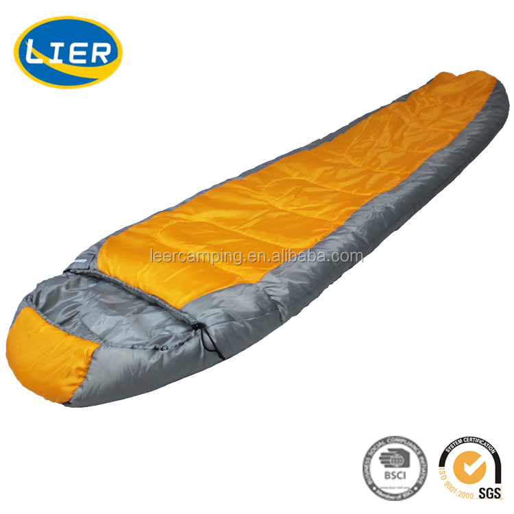 wholesale Outdoor portable hiking travelling 4 season mummy sleeping bag