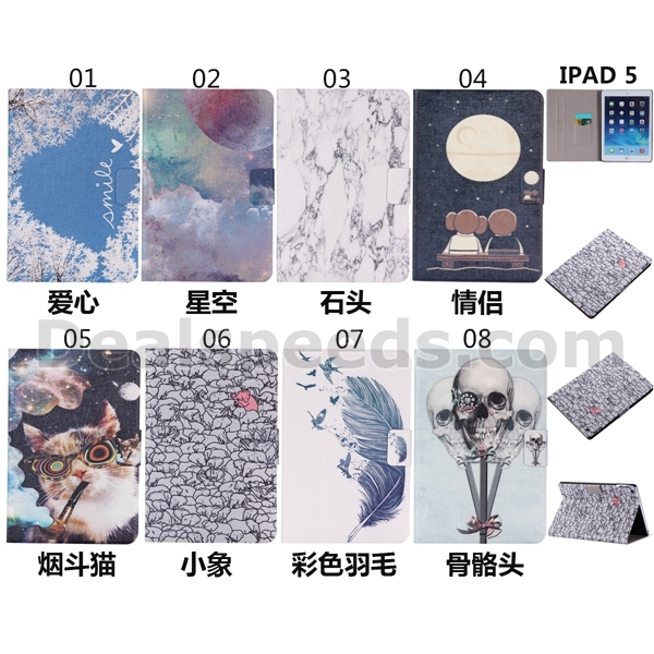 Filp Stand PU Leather Case Cover for iPad Air Slim Case