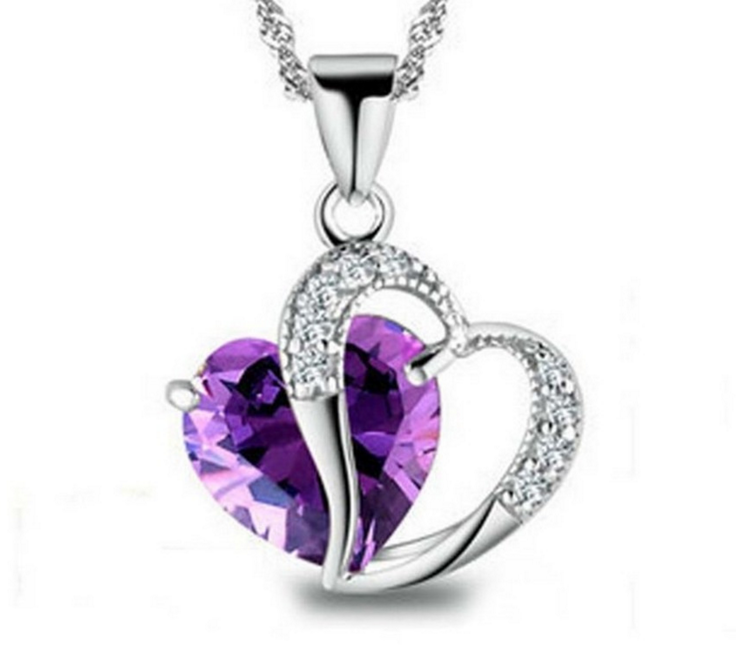 925 Sterling Silver Heart Necklace Wholesale 2016 Silver Necklace 925 Sterling Silver <strong>Jewelry</strong>