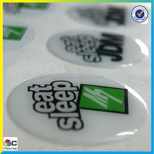 Popular any shape and logo 3D epoxy dome epoxy domed stickers