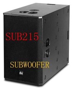 dual 15 inch SUB215 with CE certificate long throw subwoofer for line array sound system from guangzhou