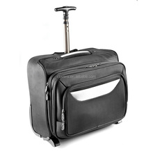 Top-grade laptop trolly luggage case with many layers