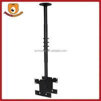 "For 24"" to 37"" VESA 200x200 mm Black vesa pipe double sided tv mounts"