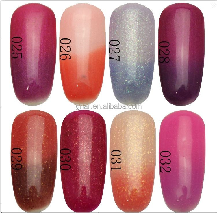 2014 Nail Art Soak-Off Glitter Polish Temperature Change <strong>Gel</strong>