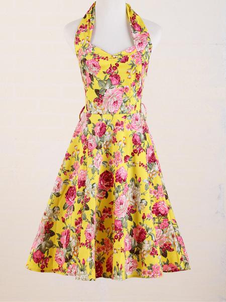 Moda vintage mujer vestidos