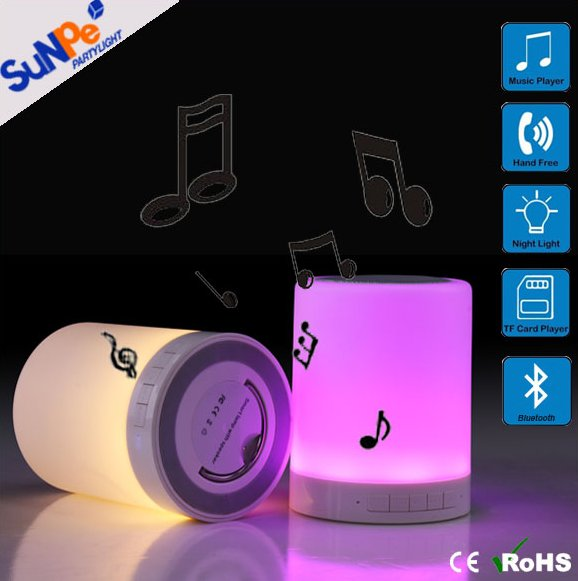 MP3 music player colorful LED touch night light speaker bluetooth portable laptop mini wireless bluetooth speaker