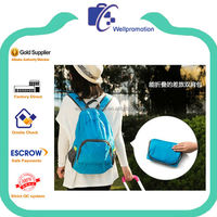 wellpromtion hot selling promotional fashion cheap foldable bagpack