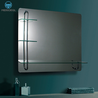 MERIOEGL Hottest selling double layer bathroom frameless mirror with shelf