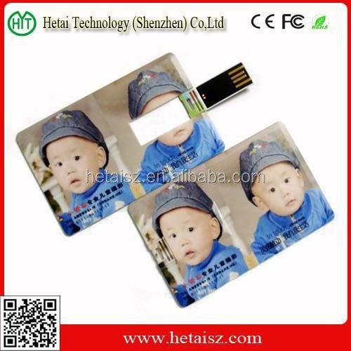 wholesale logo printing usb pen drive credit card flash usb drive memory stick with PP bag packing