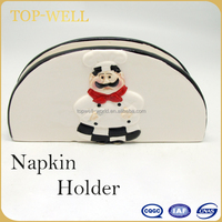 Bistro chef tissue holder ceramic napkin holder