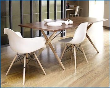 High Quality Plastic Wood Legs Dining Chair Leisure Chair