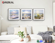 Beautiful scenery wall painting 50x50 size room scenery painting