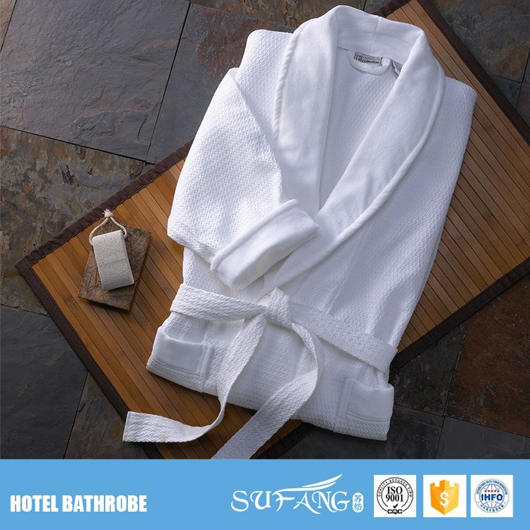 Nantong factory hotel supplier high quality hotel bath robe 100% <strong>cotton</strong>
