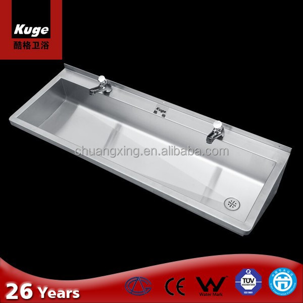 Sinks stainless steel public bathroom sinks wash trough