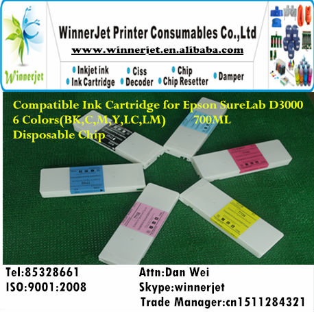 Print Refillable Ink Cartridge for Epson D3000