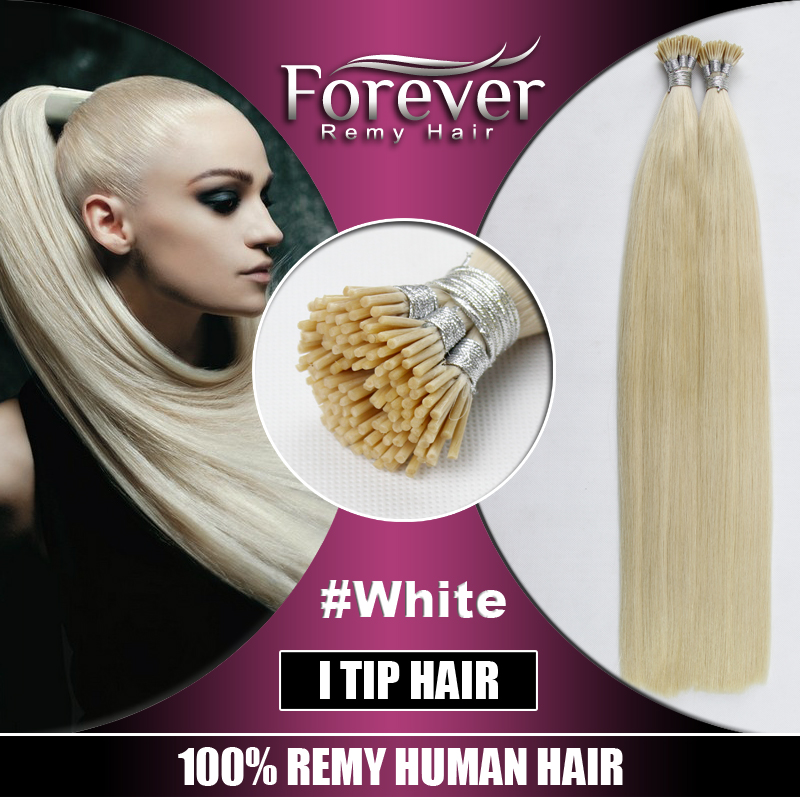 High Quality Wholesale Remy Human Hair Nanovuflat Tip White I Tip