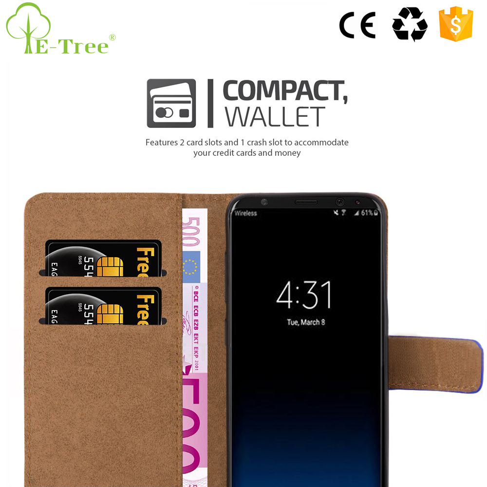 New Phone Accessory 100 Pattern Cash Slot Flip Leather Case For Samsung Galaxy S8 With Stylus Pen