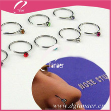 jewelry factory 316L Stainless Steel ring form skull nose ring