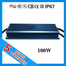 5 years warranty waterproof IP67 0-10V 100W constant current 1500mA dimmable LED driver