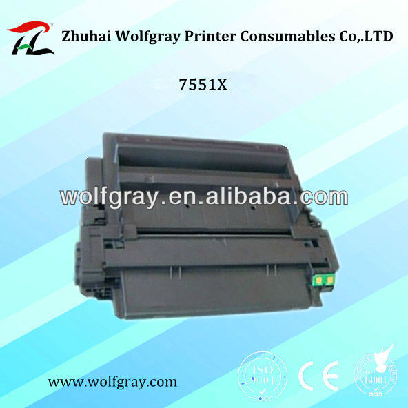 Wholesale compatible for HP 7551X toner cartridge for HP LaserJet P3005/M3035/M3027