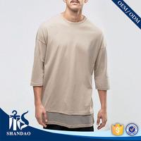 Guangzhou shandao factory o-neck three quarter sleeve180g 90%modal 10%spandex mens fashionable new feeling clothing