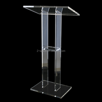 Perspex Pulpit Acrylic Church Podium High Finish Clear Tall Lectern Acrylic Rostrum