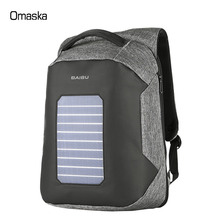 Fashionable waterproof Anti-theft travel business laptop charger <strong>backpack</strong> suitable for 16 inch USB charging solar <strong>backpack</strong>
