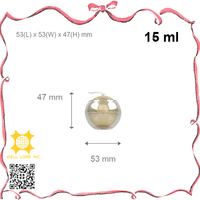 New mini cute 15ml golden ball cream lotion plastic jar with magnate