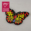 Fashion clothing design embroidered colorful bead butterfly applique