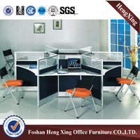 Aluminum round office workstation for 6 person (HX-PT5020)