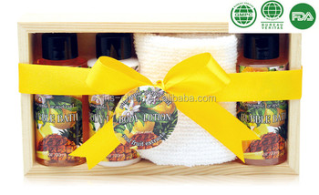 organic fruit essential bath spa gift set for travelling