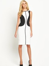 black and white block Pencil dress