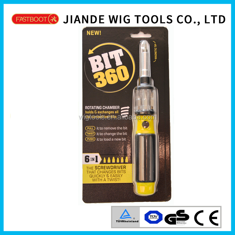 6 in 1(7pcs) Multi-function 360 degree Magnetic screwdriver bits set 100-6I