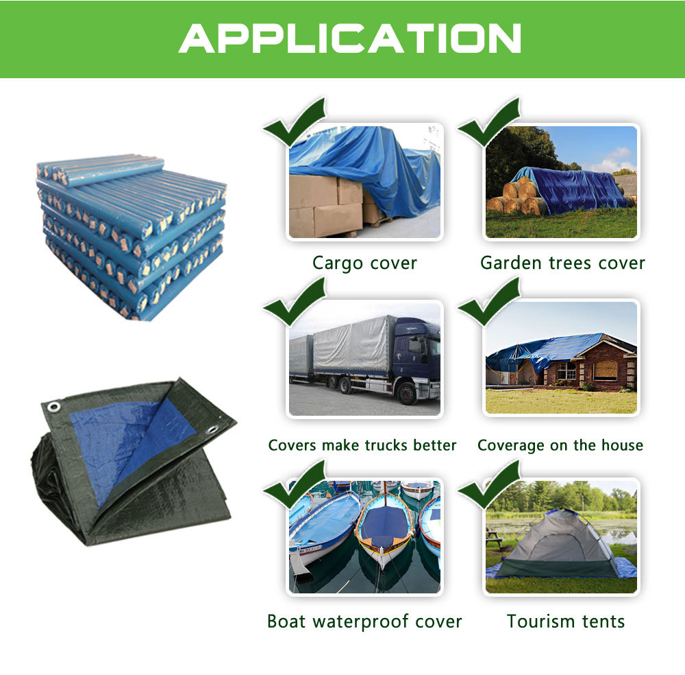 PE tarpaulin factory low price for tent