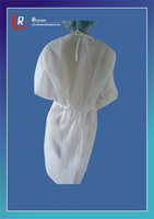 Dental Products and Supplies - Waist Tie and Elastic Cuff Features Disposable Full Length Fluid-Resistant Tie-Back Gown