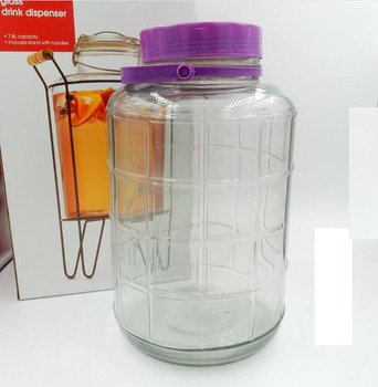 promotion glasses storage jar with Plastic Lid Clear Glass Container
