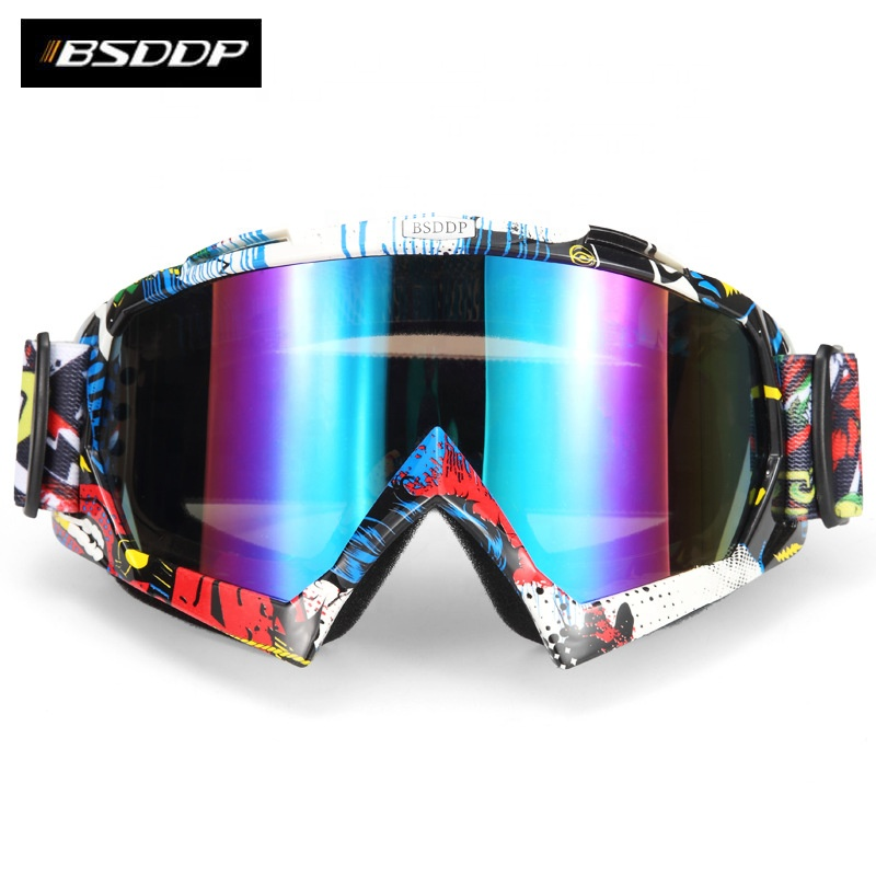 BSDDP New style foldable skiing skating goggles motocross protection outdoor sports riding goggle helmet mask motorcycle