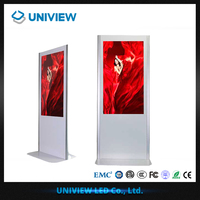 Full HD 22-84'' inch floor stand digital signage advertising player poster with LG LCD display interactive touch screen