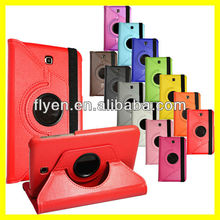 "PU Leather 360 Rotating lichi pattern red Case Cover Skin Stand for Samsung Galaxy Tab 3 7"" P3200"
