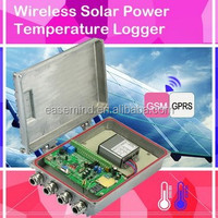 Wireless Temperature Humidity Data Logger with Solar Power panel Data Logger