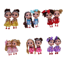Ddung,6 colors of beautiful, lovely 12cm confused Mini doll, send girl fashion decorations, Christmas holiday gifts, baby Model.